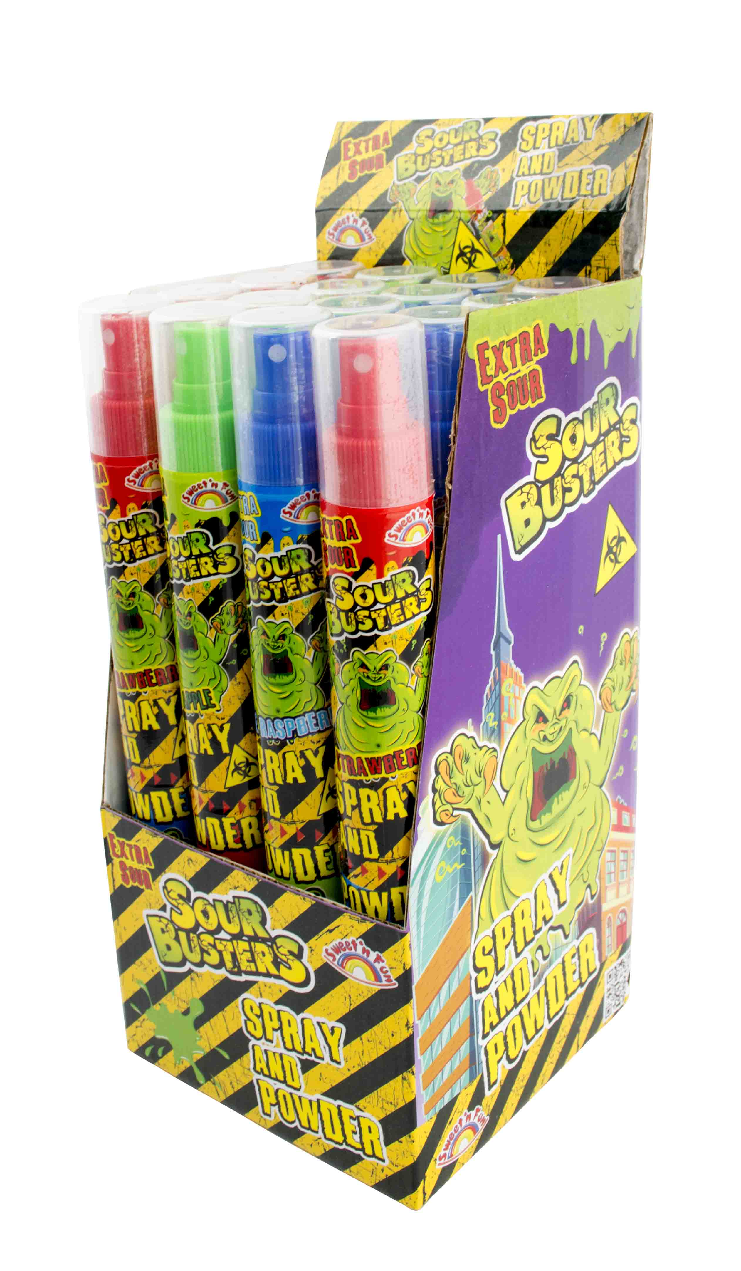 Sour Busters Spray and Powder – kyselý sprej s práškem 30g + 40ml