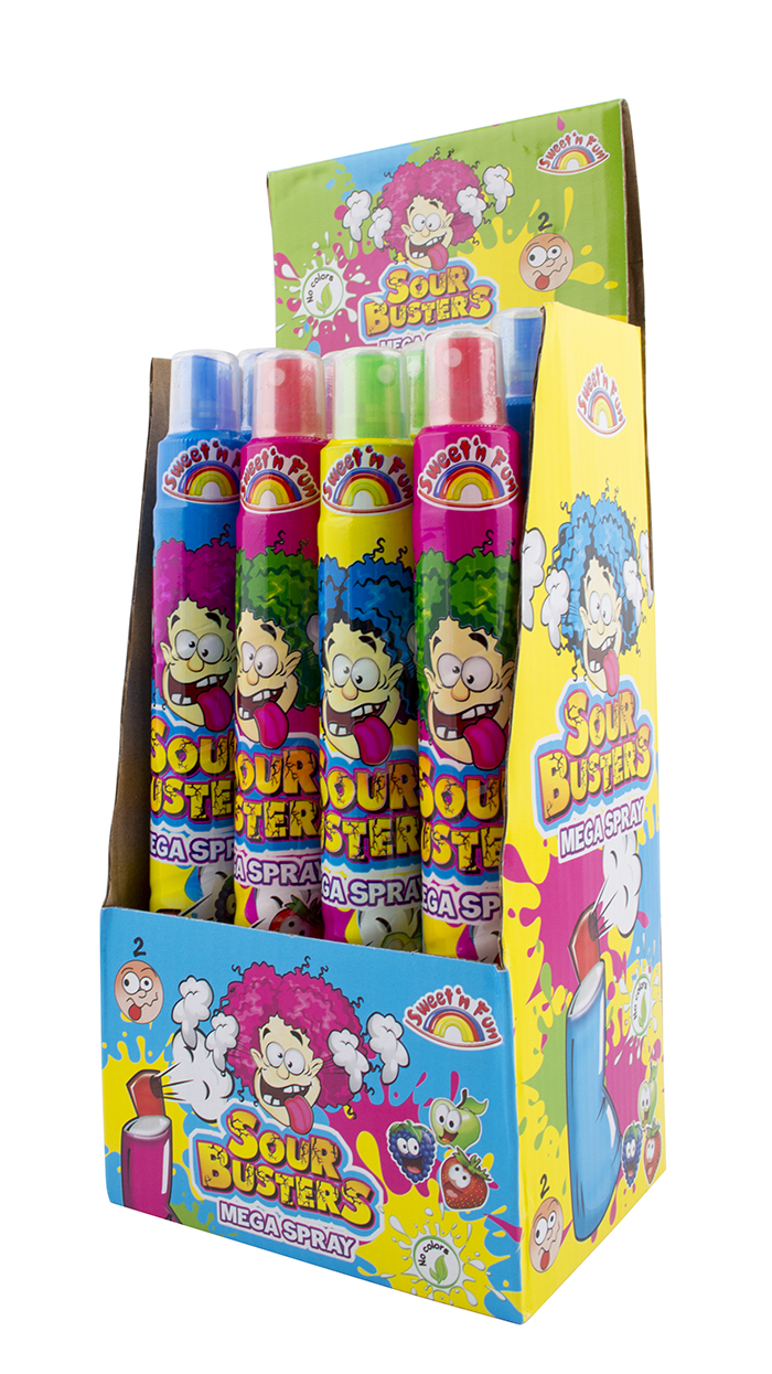 Sour Busters Mega Spray - kyselý sprej 102 ml