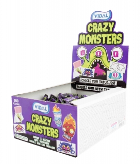 Crazy Monster bubble gum - žvýkačka s tetovačkou 3,5g
