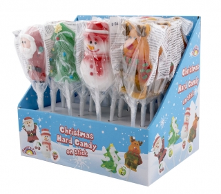 Christmas Hard Lollipop on stick - vánoční lízátka 40g