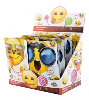 Emoji popping candy