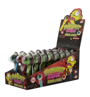 Zoombeast Candies Horror Eyeball - lízátko oko na vidličce  15g