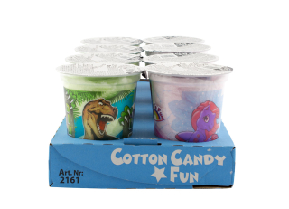 Cotton Candy Cup mixed - cukrová vata v kelímku (Pony, Dino)